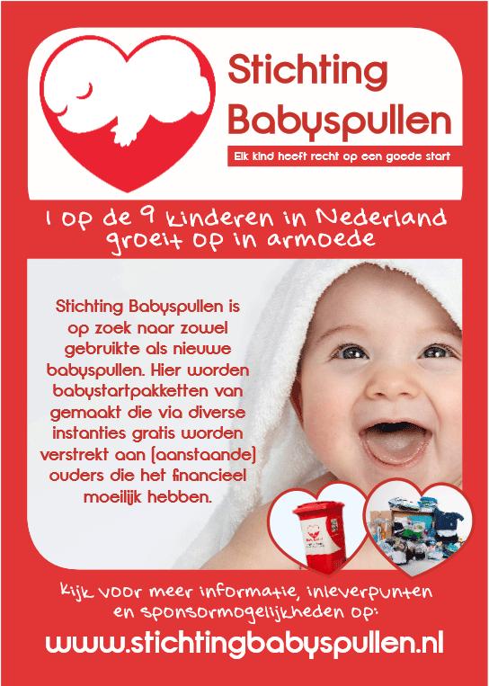 Poster stichting babyspullen