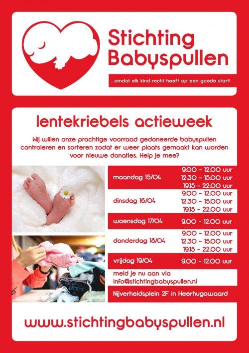 Actieweek Stichting Babyspullen Lentekriebels