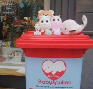Inzamelingsactie Never Grow Up Kids & BabyShop voor Stichting Babyspullen