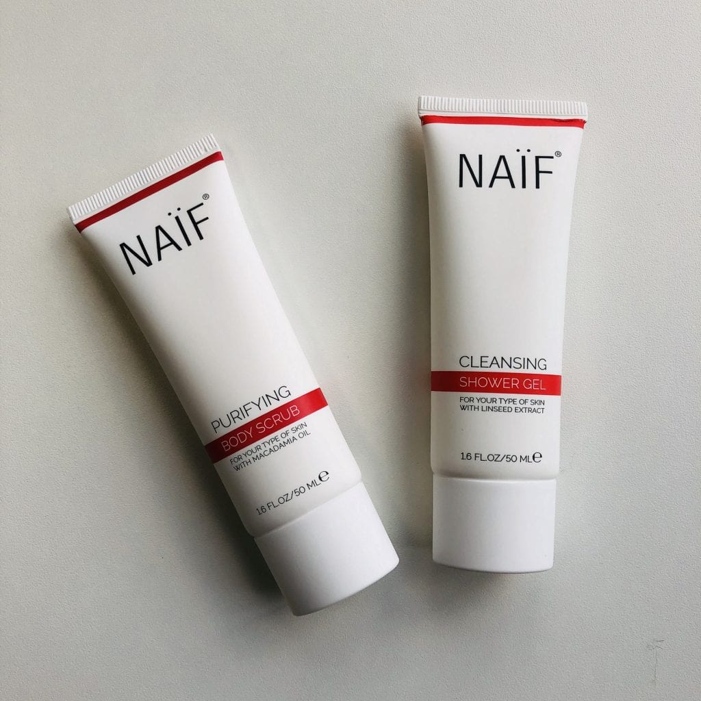 Naif showergel en bodyscrub 50 ml