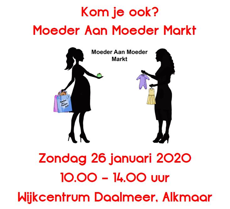 Stichting Babyspullen op de Moeder Aan Moeder Markt, Alkmaar 26 januari 2020